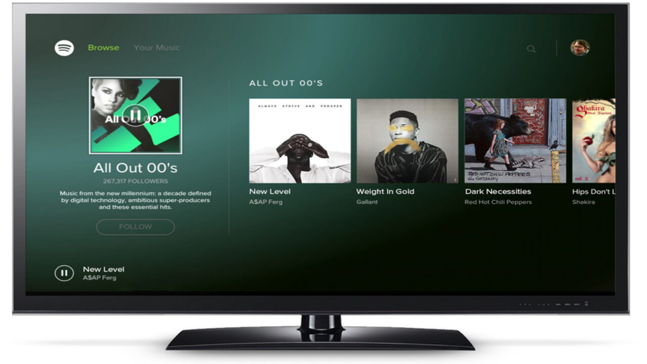 spotify on tv